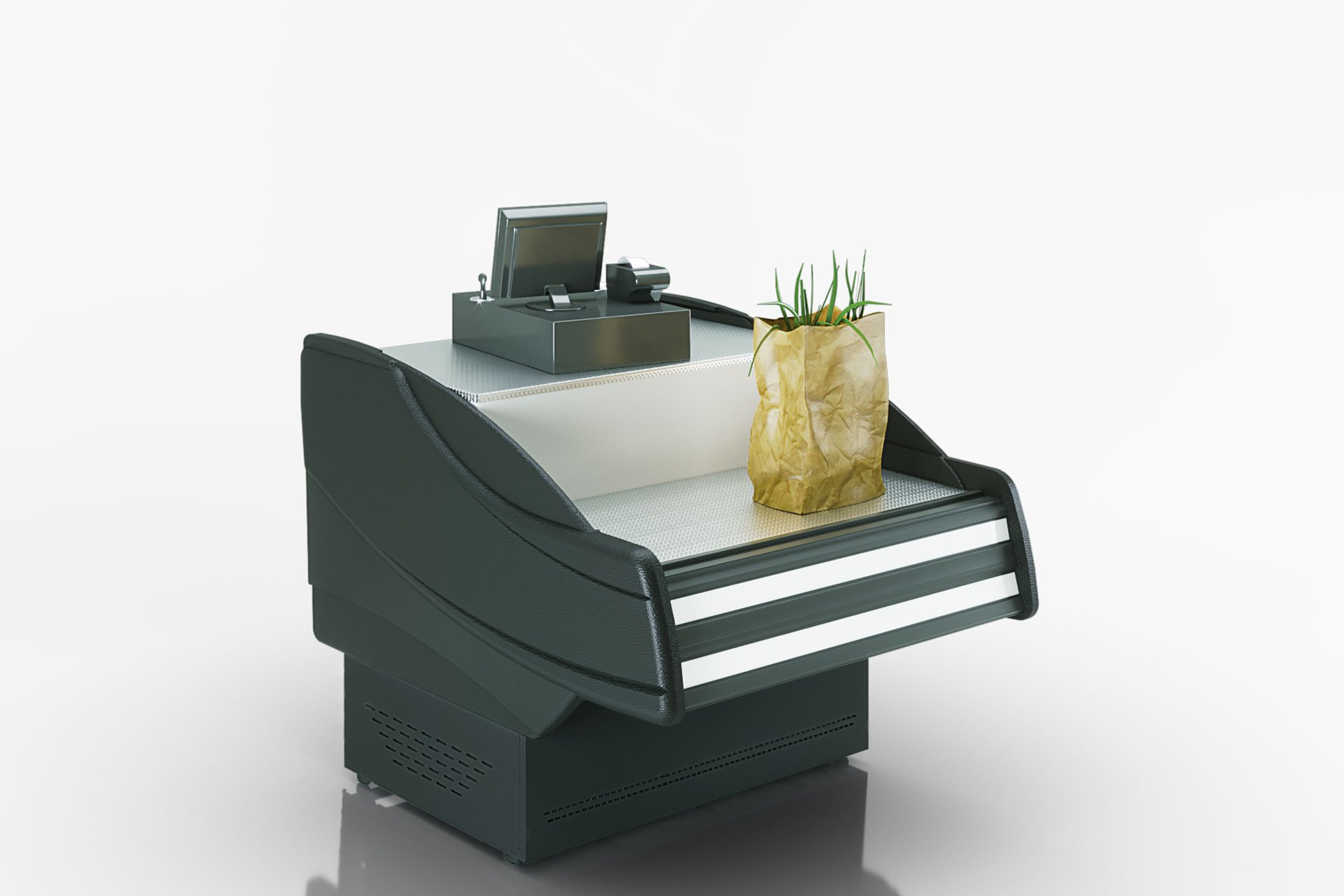 מקרר חלביה SONATA NG 120 CASH DESK
